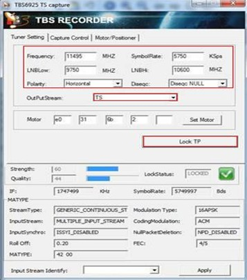TBS6925 TSRecorder Capture