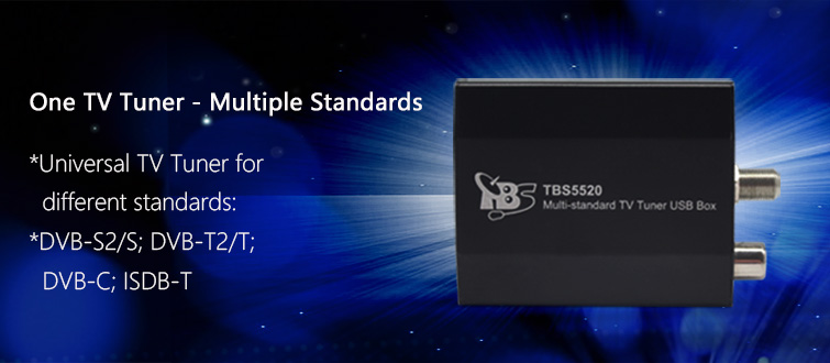 TBS5520 Multi-standard TV Tuner USB Box