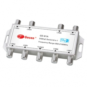 Gecen GD-81A 8 x 1 Satellite DiSEqC Switch DVB-S2 FTA