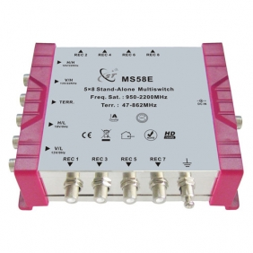 MS58E 5 x 8 Multiswitch with 5 inputs (5x SAT, 1x terrestrial.)