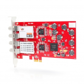 2 x TBS6908 Professional DVB-S2 Satellite Quad Tuner PCIe Card, compatible with EUMETCast
