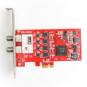 5 x TBS6205 DVB-T2/T/C Quad TV Tuner PCIe Card,digital TV tuner,Terrestrial & Cable PCIe Card