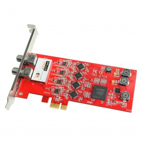 TBS6704 ATSC/ Clear QAM Quad Tuner PCIe Card,receiving digital ATSC, 8VSB and Clear QAM cable TV on PC