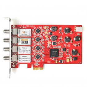 TBS6904 DVB-S2 Quad Satellite TV Tuner PCIe Card