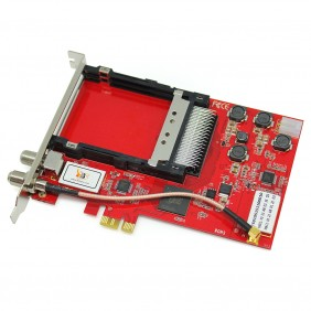 TBS6910 DVB-S2 Dual Tuner Dual CI HD Satellite PCIe TV Card, for Pay-TV