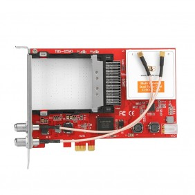 TBS6590 Multi Standard Dual Tuner Dual CI PCI-e Card, DVB-S2/S, DVB-T2/T,DVB-C2/C, DVB-S2X, for Pay TV
